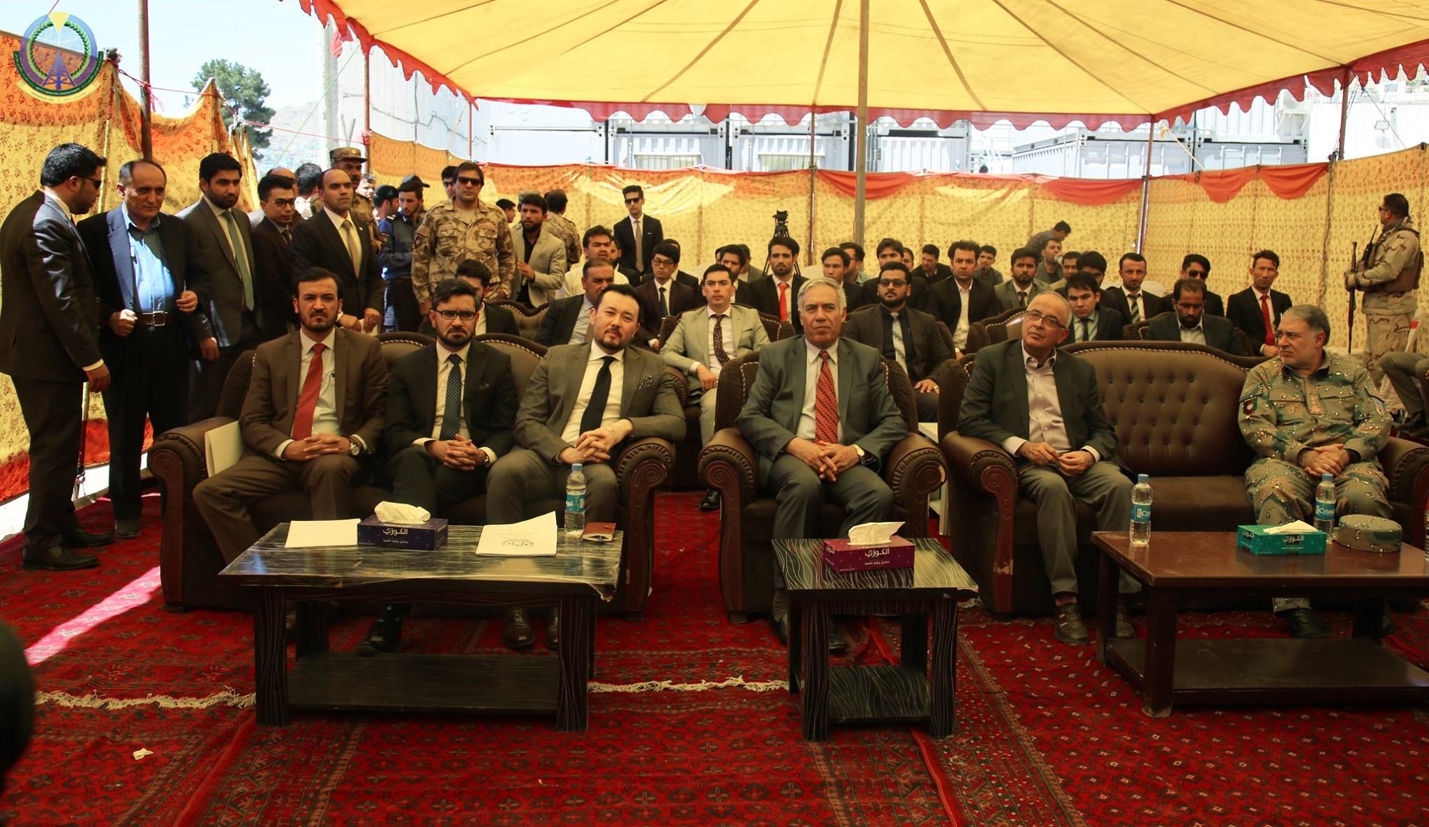 سنگ تهداب پروژۀ مطبعۀ اسناد مصئون افغانستان گذاشته شد