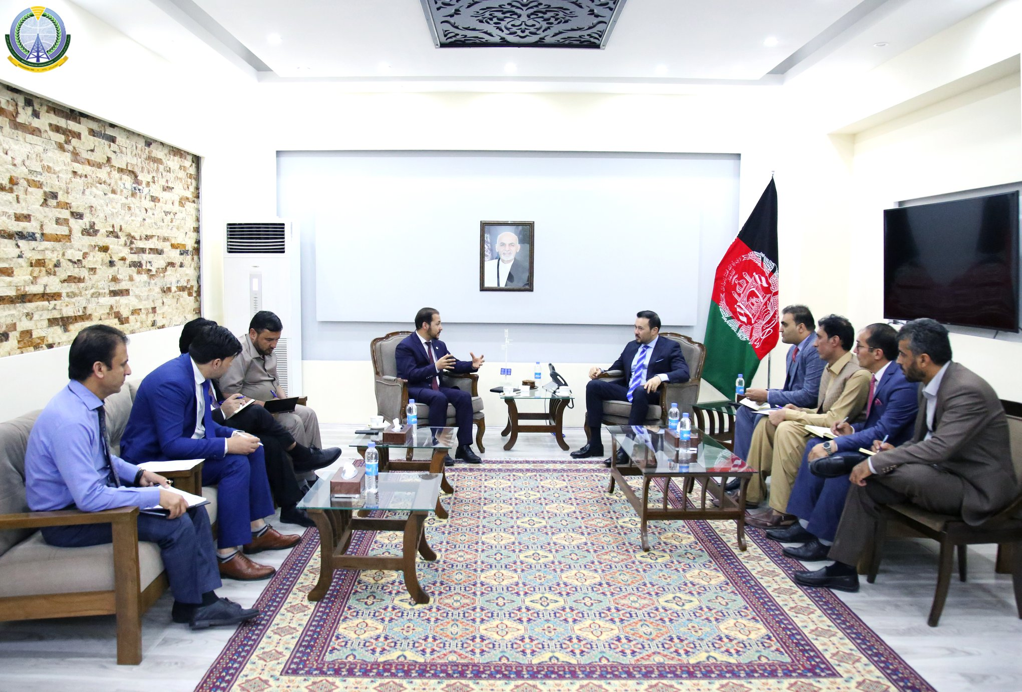 Acting minister of Communications and IT meets with Kabul Mayor