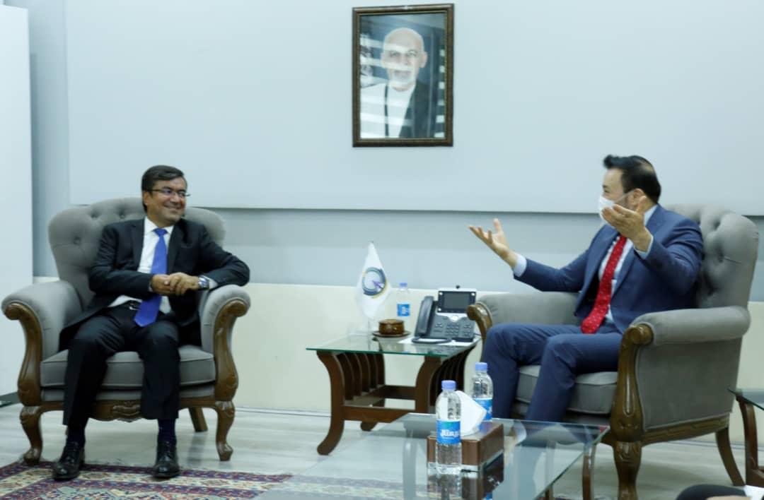 دیدار والی بامیان با وزیر مخابرات و تکنالوژی معلوماتی