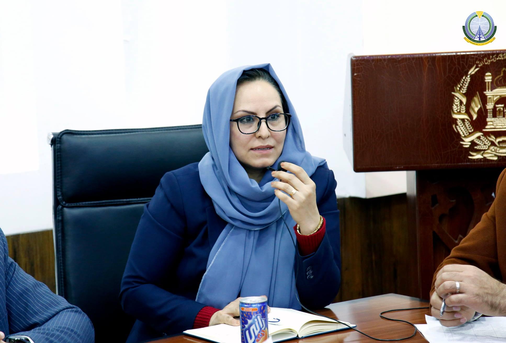 د اطلاعاتو د لاسرسي کمیسیون کمیشنرې محترمې زهرا موسوي
