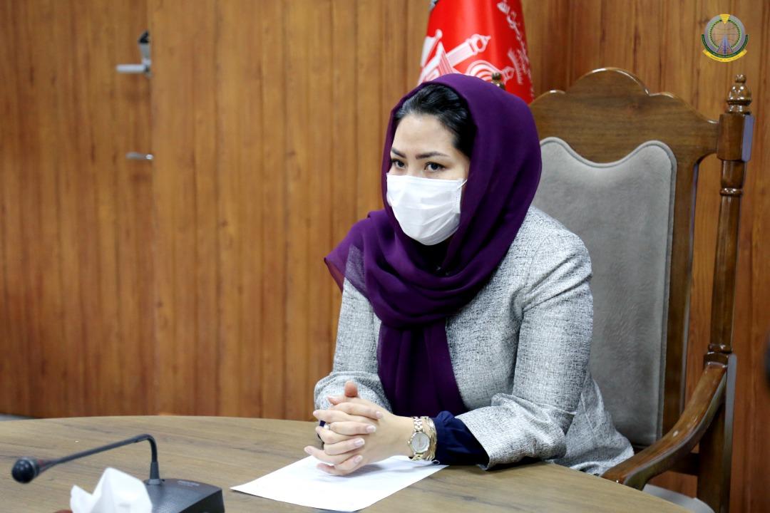 معصومه خاوری وزیر مخابرات و تکنالوژی معلوماتی