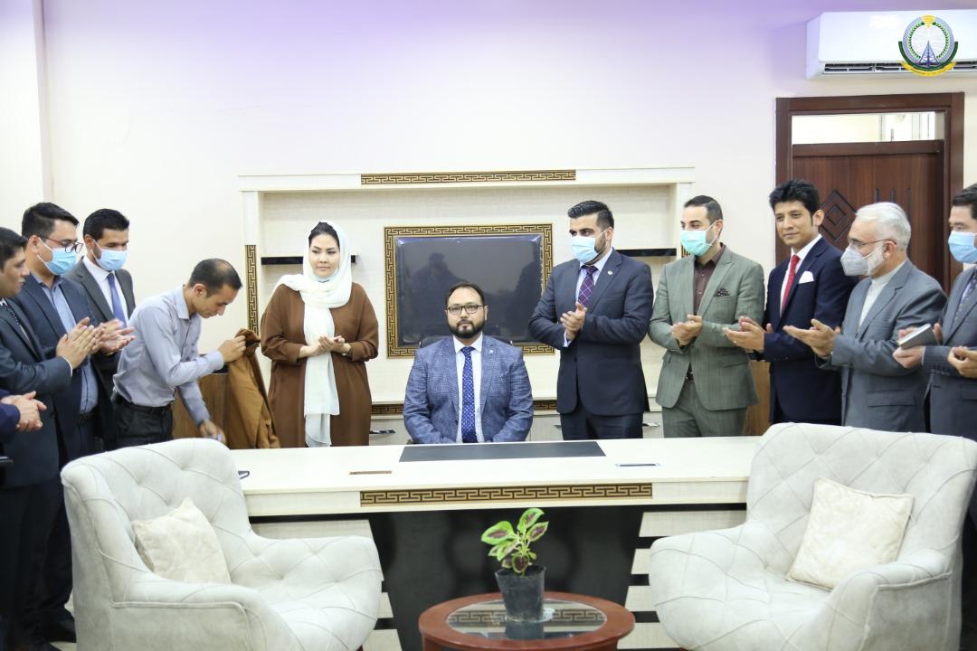 جاوید حسین فضایلی به حیث رییس عمومی مالی و اداری