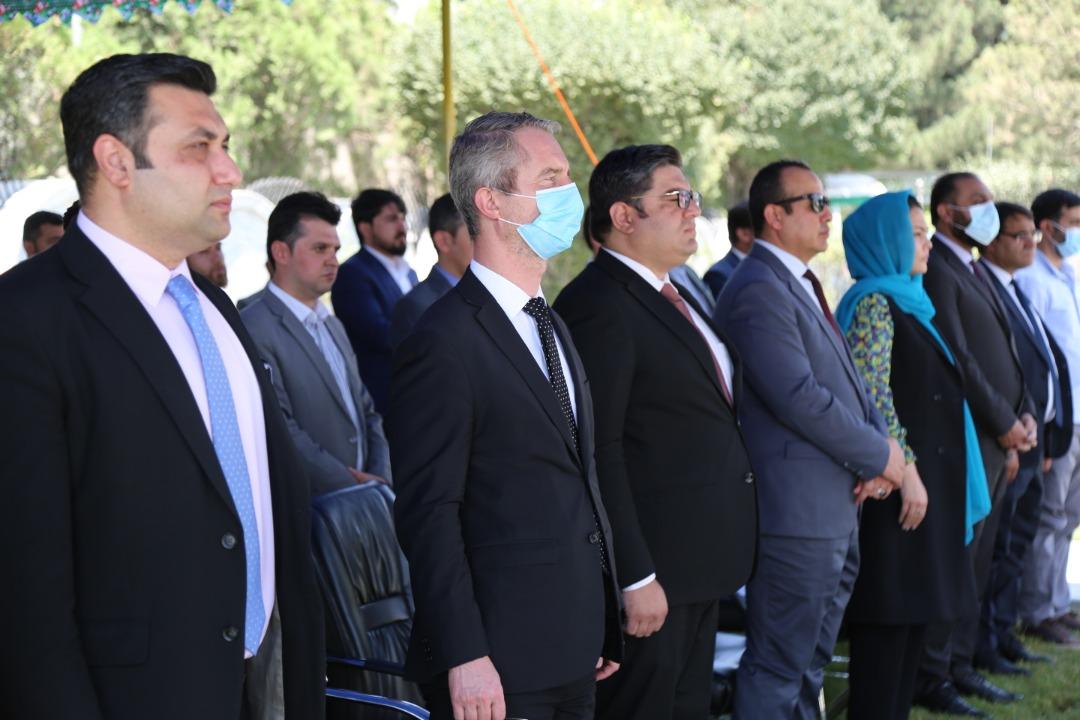 اشتراک وزیر مخابرات و تکنالوژی معلوماتی در مراسم تحویلگیری اولین محموله رادارهای سراسری از فرانسه به افغانستان