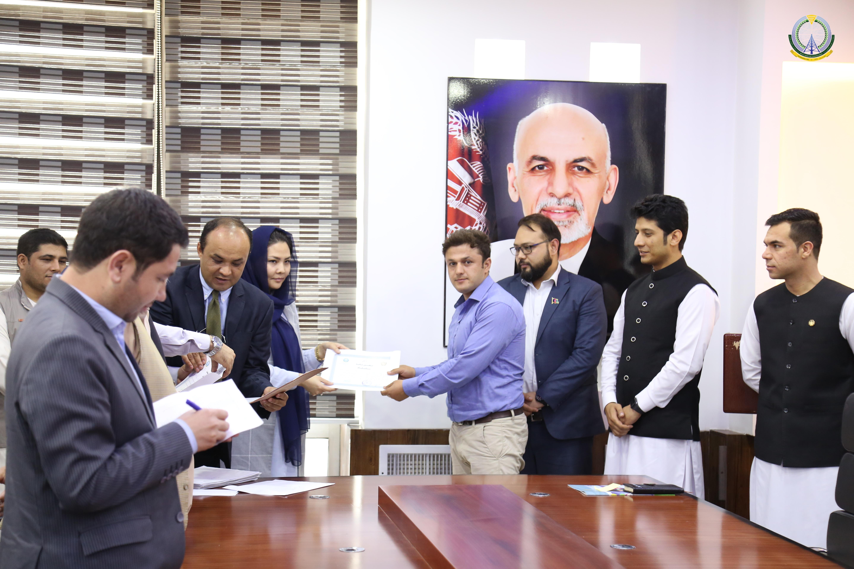 مراسم تقدیر از کارکردهای کارمندان بخش (NTA) وزارت مخابرات و تکنالوژی معلوماتی